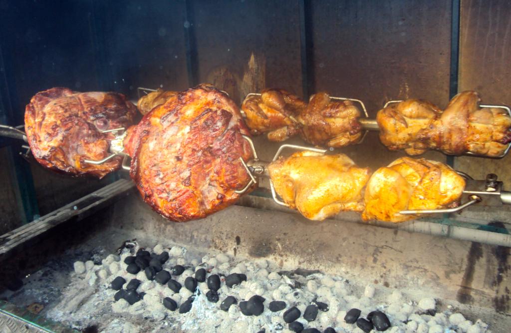 Viande à la broche